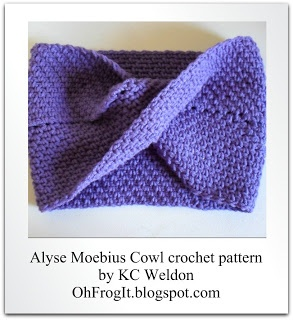 Oh Frog It!: Pattern - Alyse Moebius Cowl