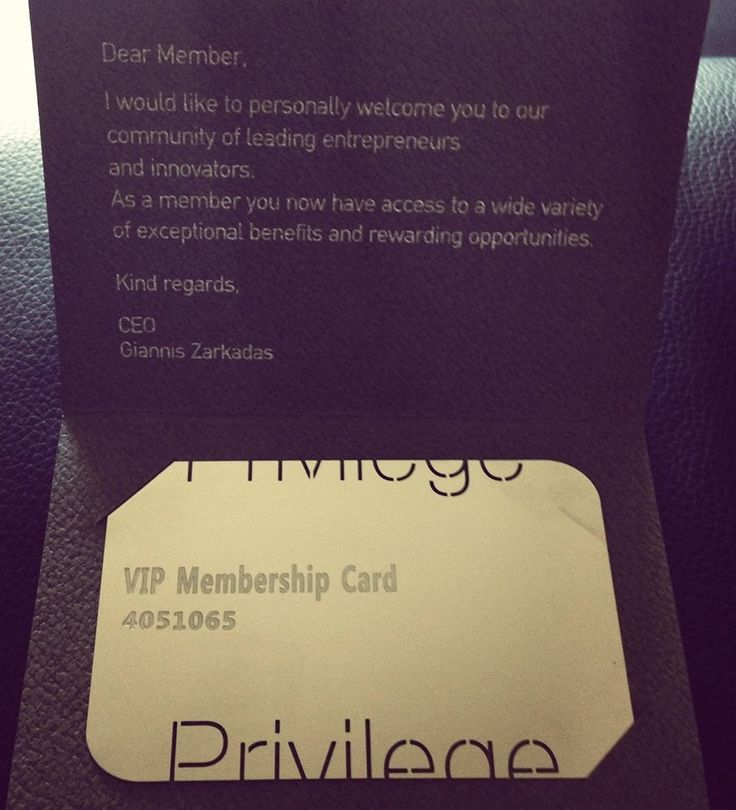 The Membership Card