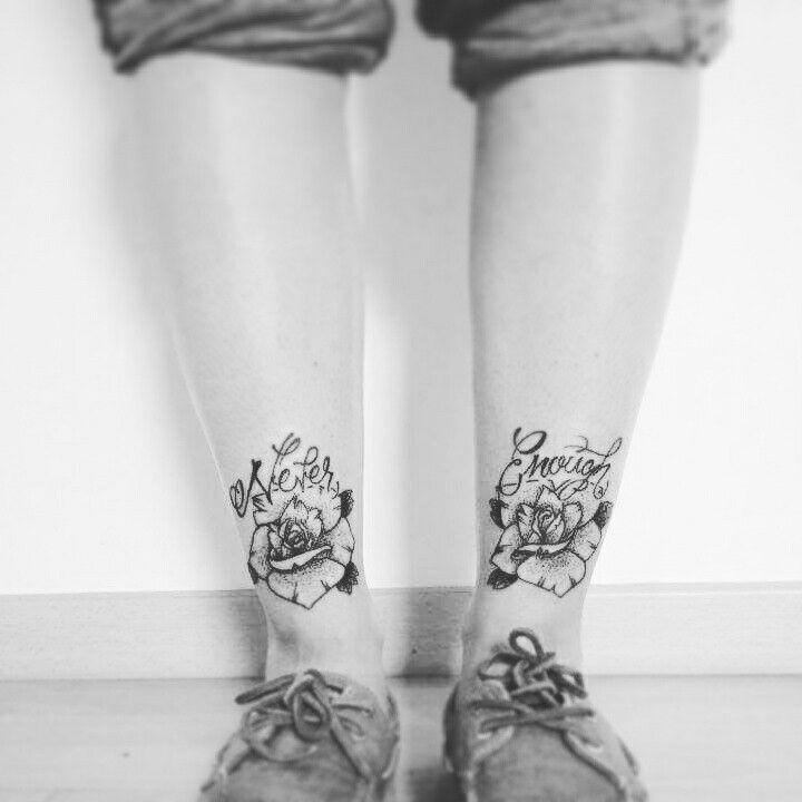 TATTOO ROSES LEGS #NEVERENOUGH