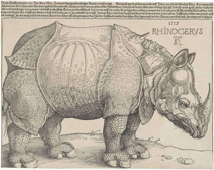 Albrecht Durer's woodcut of a rhinoceros (having never seen one)