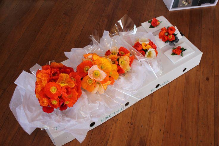 Poppy wedding - Rustic wedding flowers made by Amy's Flowers