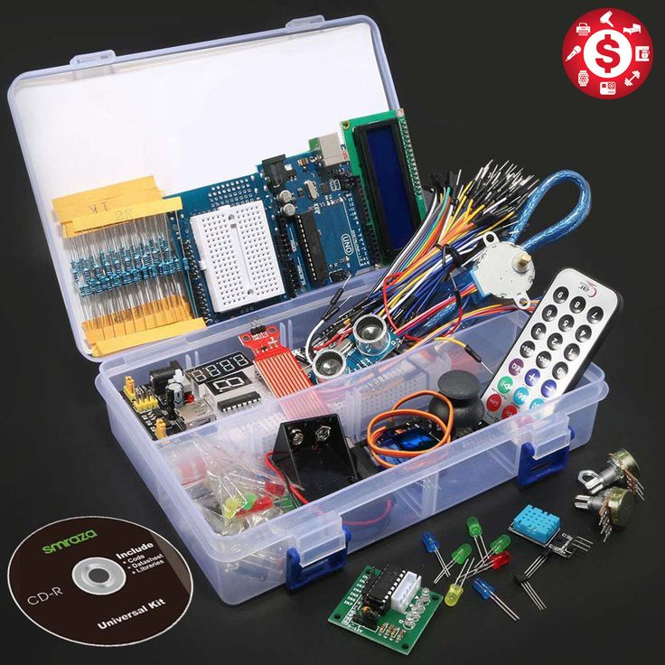 UNO R3 ULTIMATE STRATER KIT for Arduino 1602 LCD Stepper Servo Ultrasonic Motor Product Features: • The Arduino uno starter kit is compatible for Ar... #ultrasonic #motor #servo #stepper #starter #arduino #ultimate