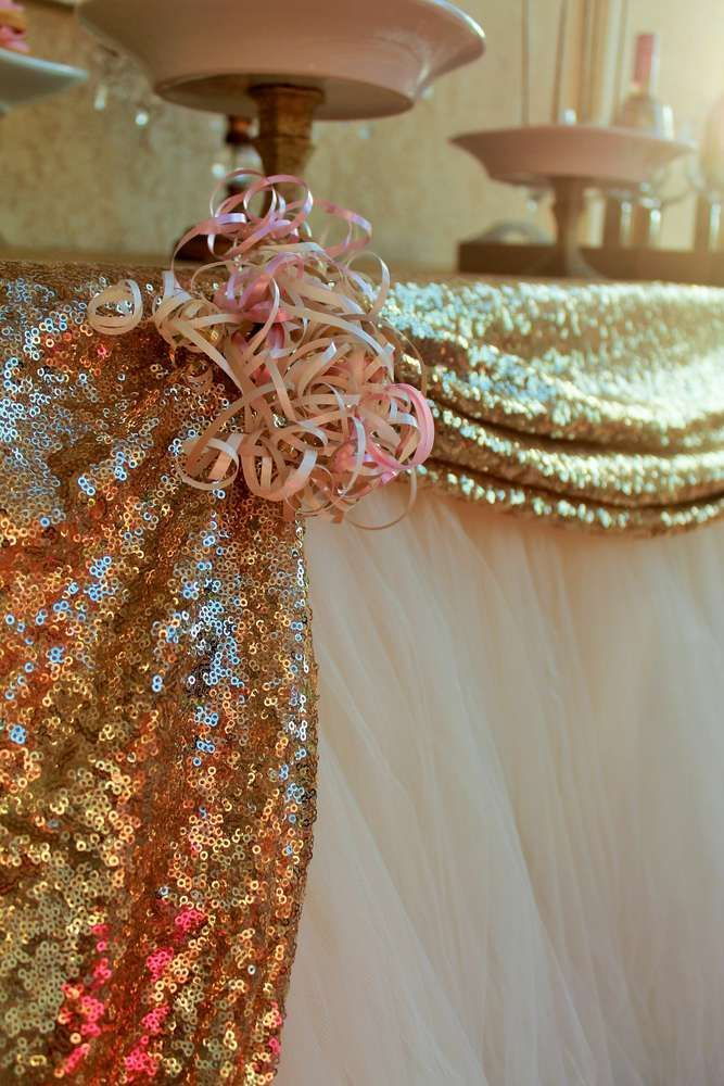 Pink & Gold Birthday Party Ideas | Photo 3 of 16