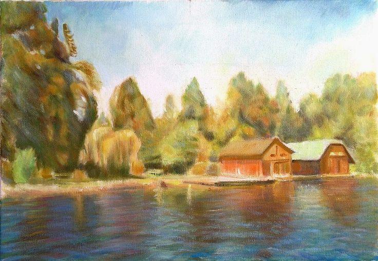 Csónakházak a Wolfgangsee-n