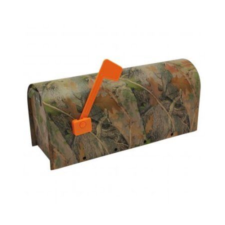 River's Edge Products Camo Heavy Metal Mailbox, Green