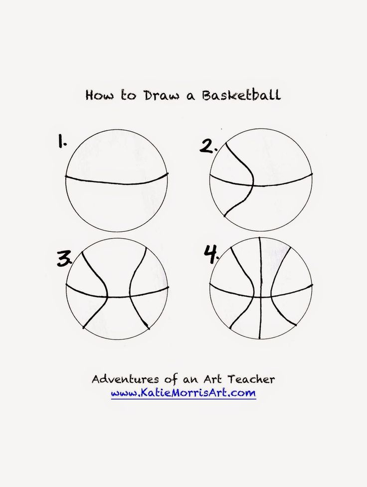 Adventures of an Art Teacher: How to Draw- Sports How to draw a basketball: