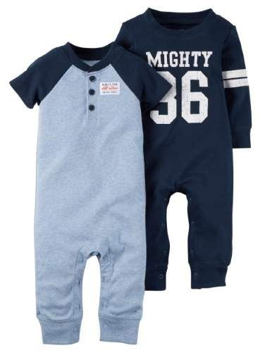 ee2bb6673 Carter s Baby Boys 2-Pack Cotton jumpsuits Coveralls Set Blue ...