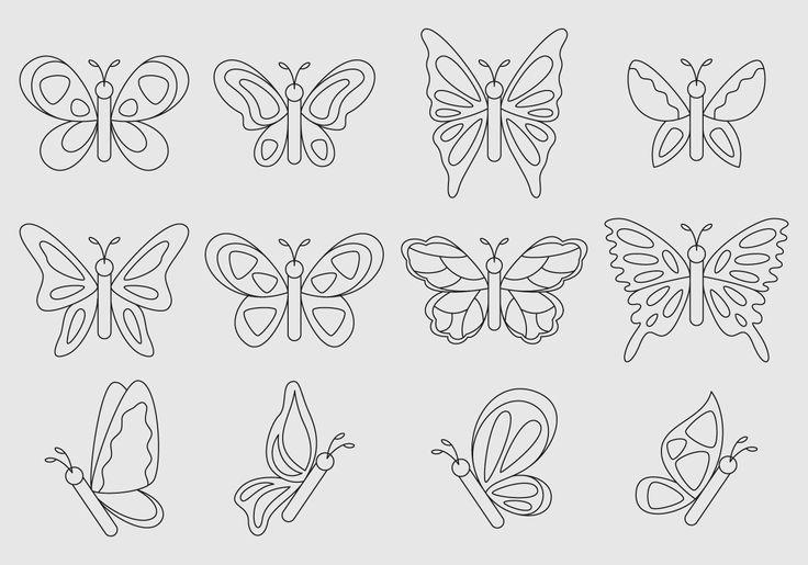 Free vector Linear Vector Butterflies #10959