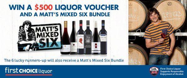 Win a $500 Liquour Voucher + 6 Pack of Wine