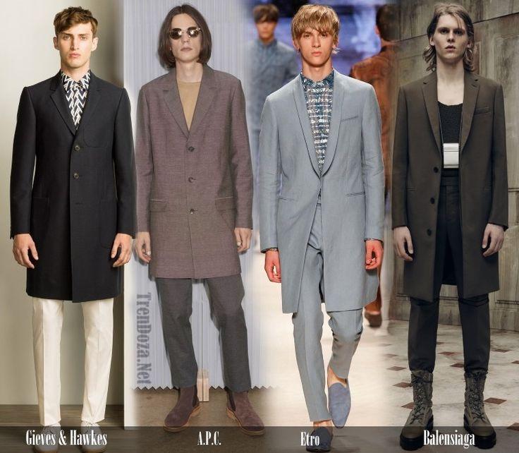 Модные мужские пальто 2016 Весна в 9 тенденциях
