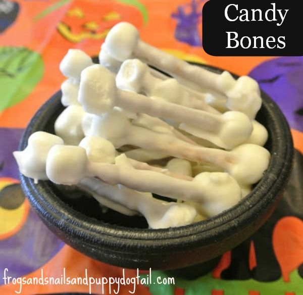 "Fun ""candy bone"" snack for kids by FSPDT Halloween snack, dino snack for the kids"