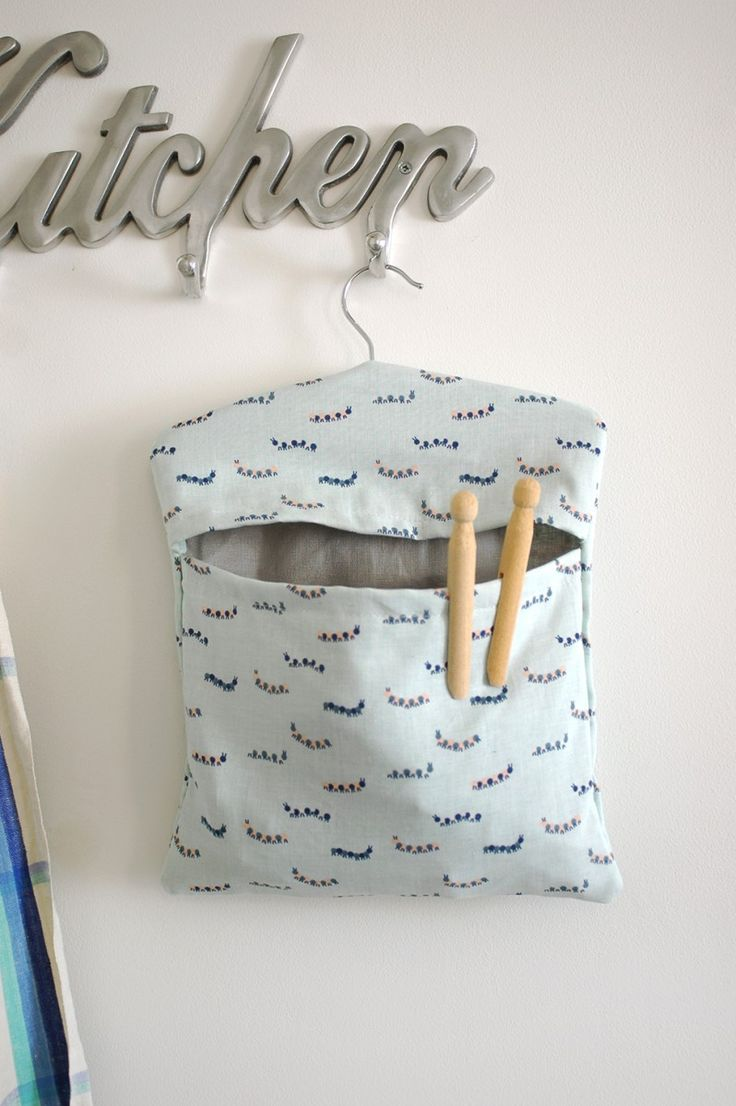 Accessorise your washing line with this pretty peg bag!
