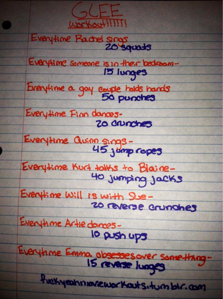glee workout
