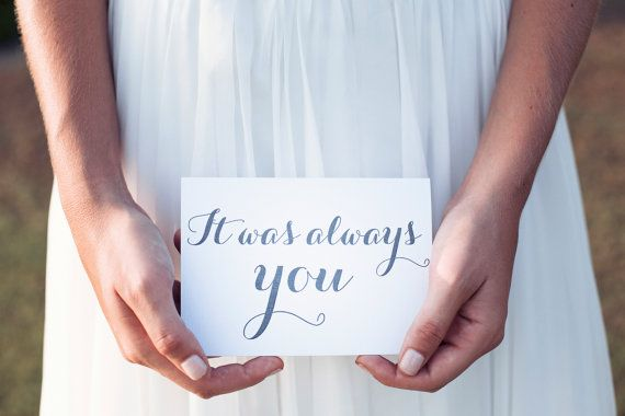 It was always you wedding day card, gift to groom from bride, wedding card to bride, wedding card to groom, on our wedding day