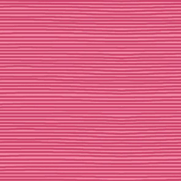Bavlněný úplet proužky růžové SF