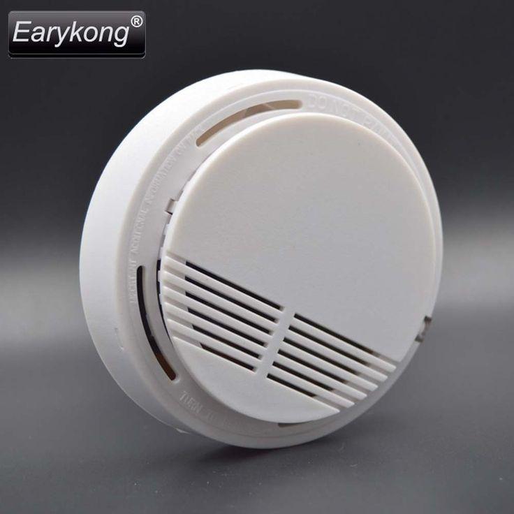 Big Promotion Wireless Smoke Detector Fire Alarm 433MHz For Home Burglar GSM Alarm System For Home Alarm System