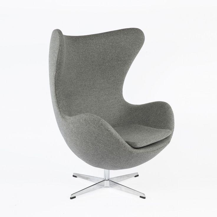 mid century arne jacobsen style egg chair grey france and son mid century modern arne jacobsen style egg