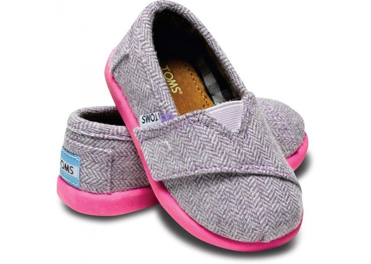 Pink Pop Herringbone Tiny TOMS - I would so buy if I