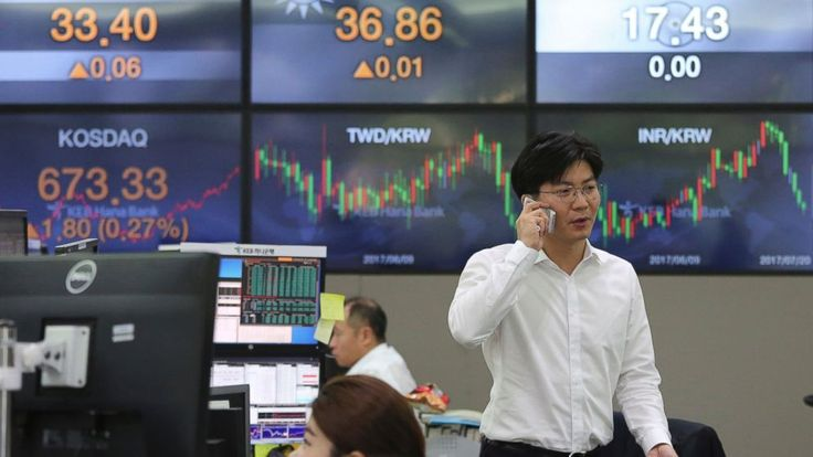 Global stock markets were higher Thursday, buoyed by strong U.S. corporate earnings and upbeat data from Asia. Investors were looking ahead to a European Central Bank policy decision later in the day. Thursday for clues about the outlook for its monetary stimulus.  KEEPING SCORE:... - #Bank, #Central, #European, #Gain, #Global, #Meeting, #Shares, #TopStories