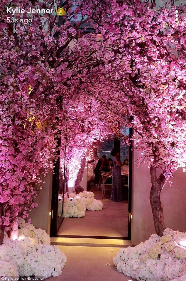 Kim Kardashian Throws Herself Over The Top Baby Shower Cherry Blossom Theme Cherry Blossom Wedding Theme Blossom Tree Wedding
