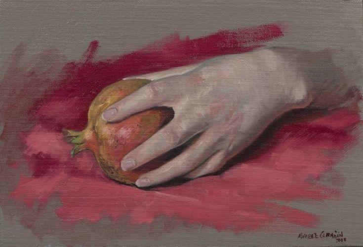 "Saatchi Art Artist Juan Manuel Álvarez Cebrián; Painting, ""hand study"" #art"