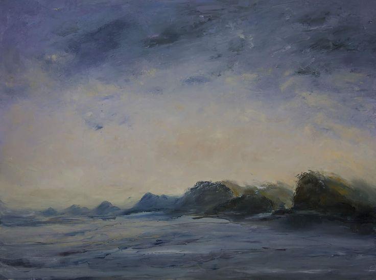 Coast by John Hodgman. 2015. Oil on canvas. 91 x 122cm. SOLD.