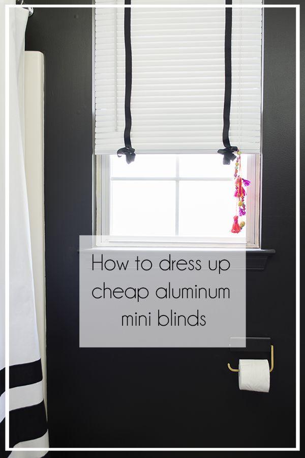 How to dress up cheap aluminum mini blinds - Cuckoo4Design
