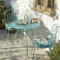 Beautiful turquoise Bistro Set from B & Q