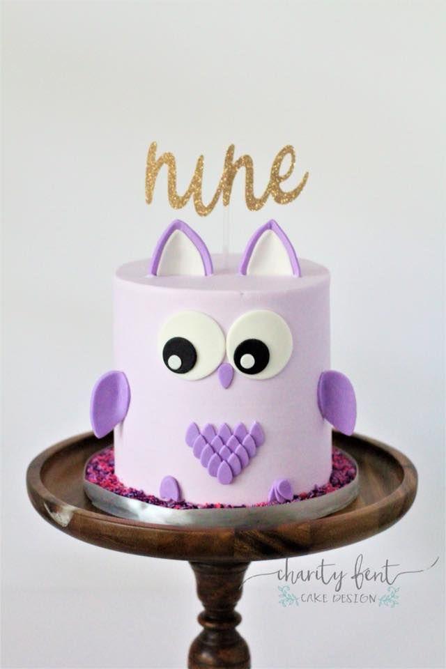 Peachy Birthday Cakes Owl Cakes Purple Cakes Birthday Funny Birthday Cards Online Amentibdeldamsfinfo
