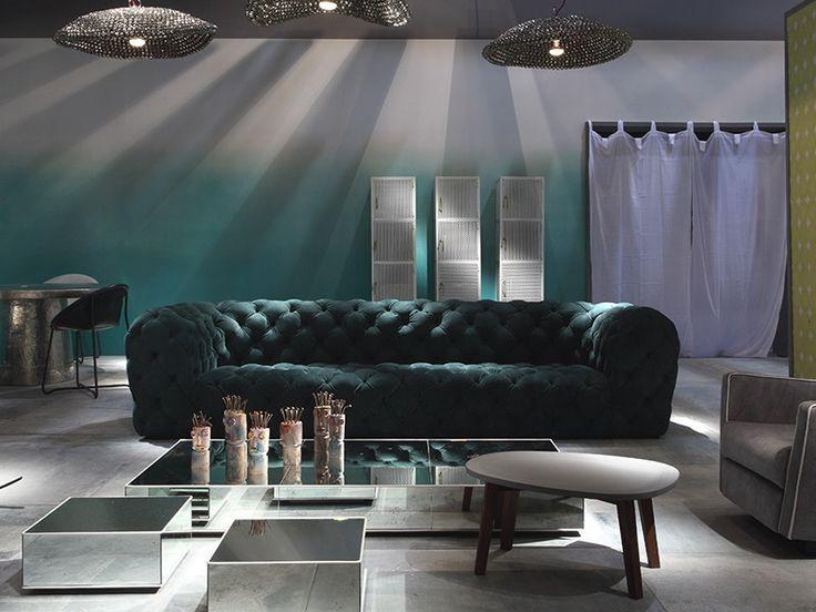 Die besten 25+ Grünes ledersofa Ideen auf Pinterest Samt Sofa - designer moebel weiss baxter