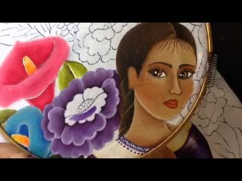 Pintura en tela vendedora de flores # 8 con cony - YouTube