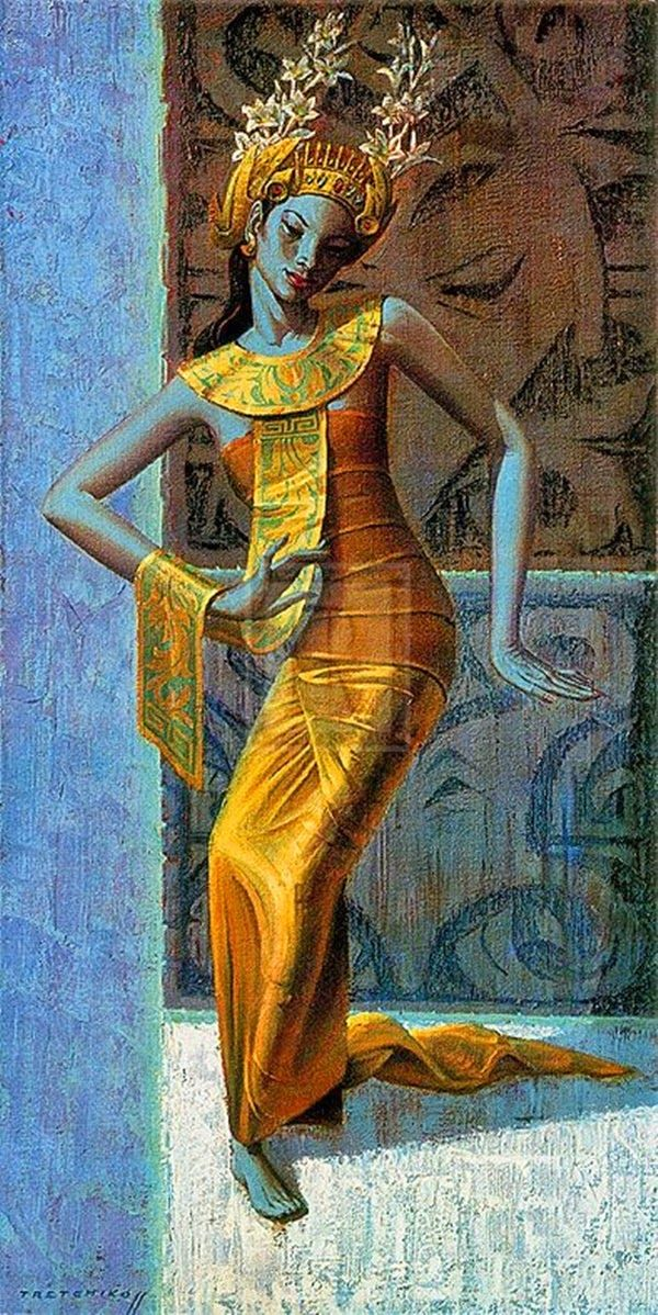~ Vladimir Tretchikoff ~ Russian artist, 1913-2006: Balinese Dancer