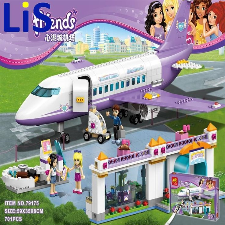 40.00$  Watch now - http://alil5s.shopchina.info/1/go.php?t=32803632783 - Lis LELE 79175 701pcs Friends Heartlake Airport big plane model Building Minis Block girl Toys Airplane toys with 41109 40.00$ #aliexpressideas
