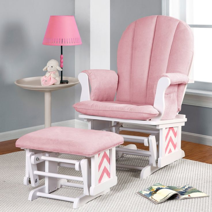 Have to have it. Dorel Hoop Back Chevron Glider Rocker and Ottoman Set - $199.98 @hayneedle