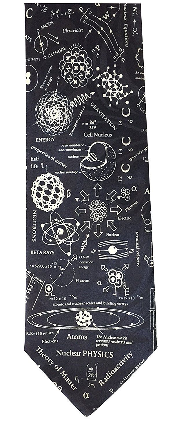 Novelty Tie - Nuclear Physics: Amazon.co.uk: Clothing