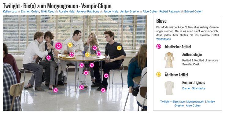 Für Mode würde Alice Cullen alias Ashley Greene sogar sterben. Da ist es auch nicht verwunderlich, dass jedes ihrer Outfits bis ins kleinste Detail durchdacht ist und jedes Teil vom Style her auf das andere abgestimmt ist. Hier hat sie sich für eine etwas längere weiße Bluse mit gehäkeltem Spitzen-muster und 3/4-langen Ärmeln von Anthropologie entschieden. Die Bluse unterstreicht ihren weiblichen und romantischen Look.