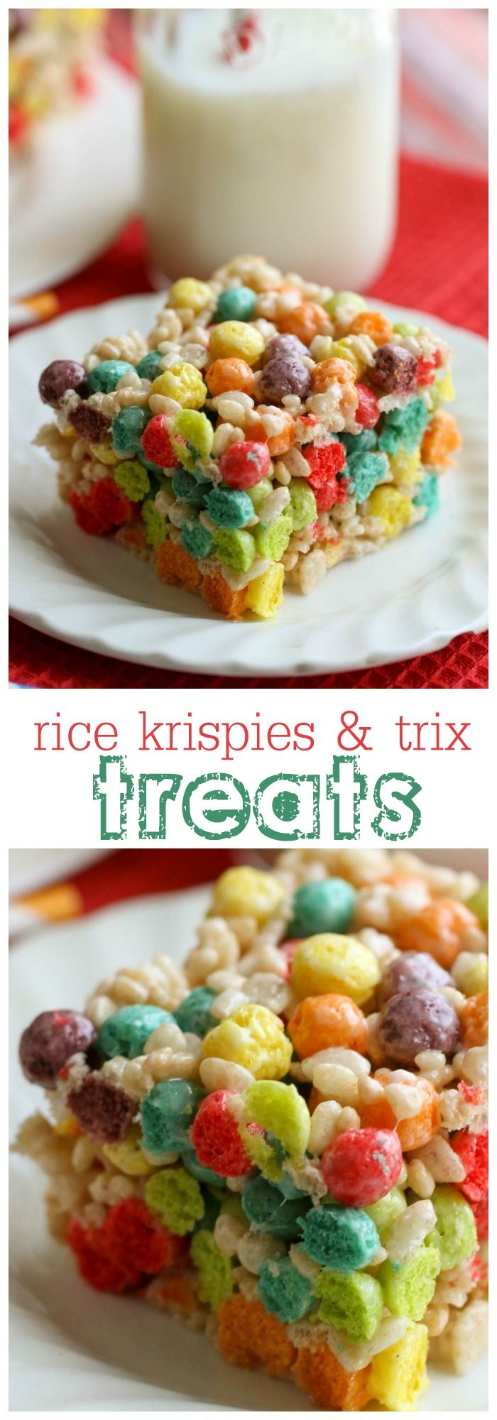 Rice Krispies and Trix treats - the kids love this fun and simple recipe!