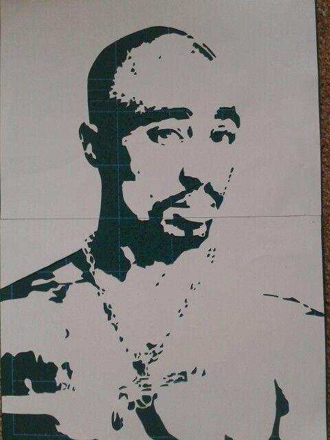 2pac Graffiti Stencil