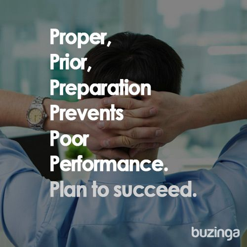 The new 6 Pu0027s mantra Proper, Prior, Preparations Prevents Poor - performance plan