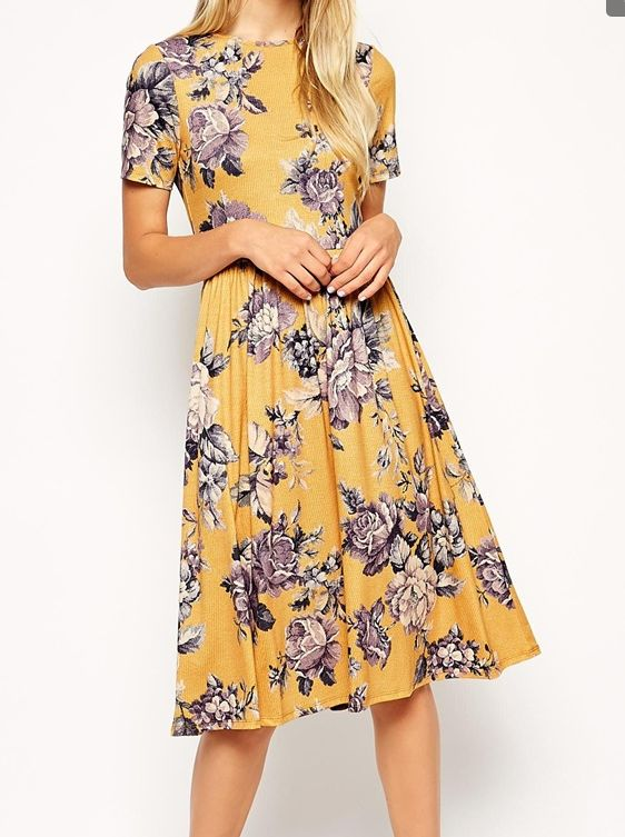 17 Best ideas about Yellow Floral Dress on Pinterest | Full skirts ...