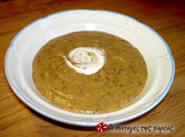 Πικάντικη σούπα βελουτέ με φακές  #sintagespareas