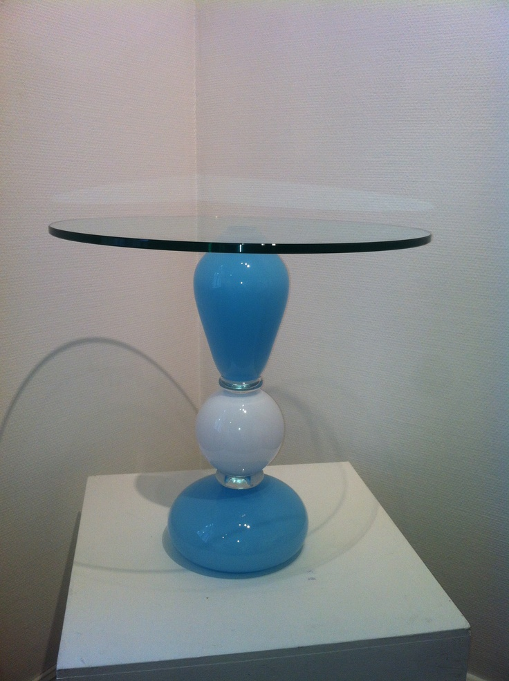 Blown glass table
