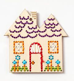 Bucilla ® Handmade Charlotte™ Wood Stitchables - House | Available  at Hobby Lobby and Plaid Enterprises