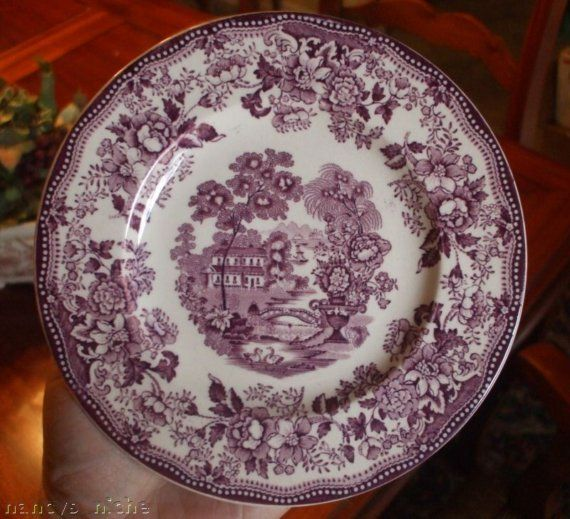 Would love to start adding some mulberry or plum-colored transferware, like this vintage Royal Staffordshire Tonquin plate.