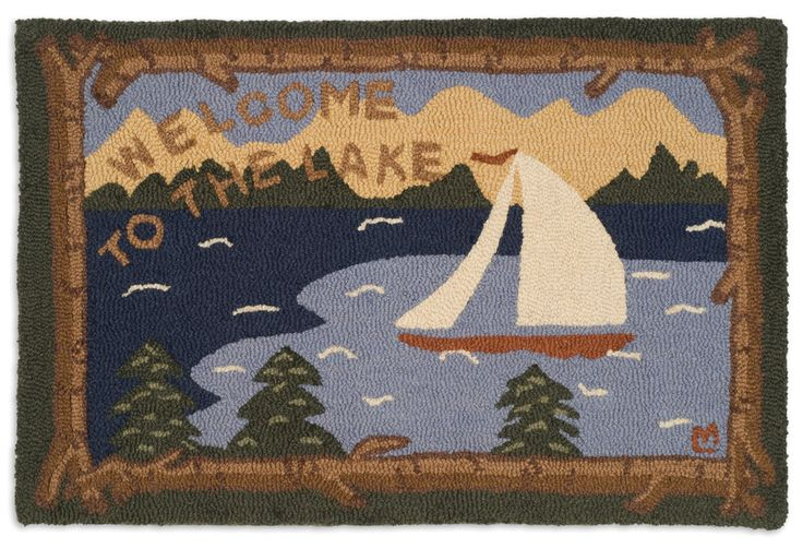 Welcome To The Lake 2 X3 Hooked Wool Rug In 2019