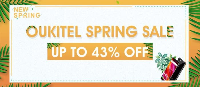 Up to 43% Off OUKITEL Smartphone Spring Sale, From $84.99