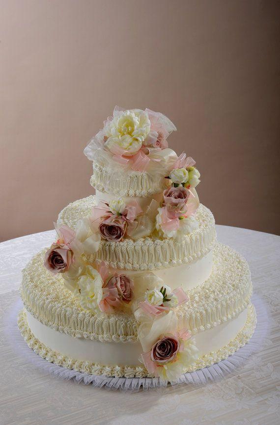 Decorazione floreale a festone per torta con rose di ILFIORDALISO, €85.00