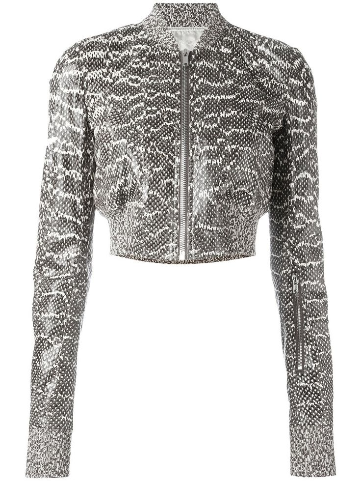 ¡Cómpralo ya!. Rick Owens - Glitter Flight Bomber Jacket - Women - Cotton/Snake Skin/Cupro - 42. Black snakeskin and cotton Glitter flight bomber jacket from Rick Owens featuring a stand up collar, a front zip fastening, a cropped length and long sleeves. Please note that this item cannot be shipped outside the E.U.. Size: 42. Gender: Female. Material: Cotton/Snake Skin/Cupro. , chaquetabomber, bómber, bombers, bomberjacke, chamarrabomber, vestebomber, giubbottobombber, bomber. Chaqueta…