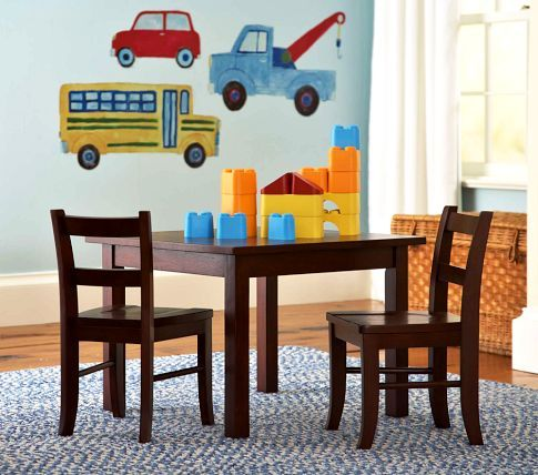 My First Table U0026 Chairs, Sun Valley Espresso | Pottery Barn Kids Square  Legs. Playroom ...