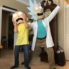 [Self] Rick and Morty cosplay I made for Halloween!